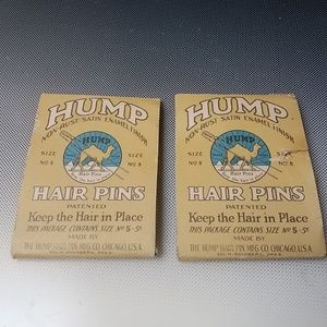 antique HUMPS HAIR PINS #5 orig package 1910s